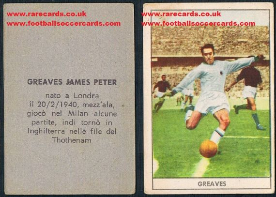 1961 Greaves Stella gum card type1